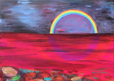 Rainbow 2 (City Sphere Utopia) .....  When I close my eyes I sense Edvard Munch