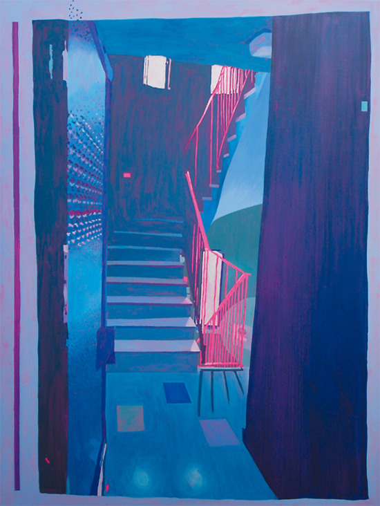 stairs of desires 200x150 cm